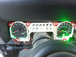 jeep wrangler dashboard lights led dash 95 yj step by step jeep wrangler forum