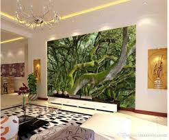 Wall Murals 3d Super Clear Green Moss Tree Trunk Tv Wall Mural 3d Wallpaper 3d