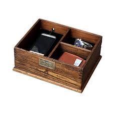 Desk With Charging Station Personalized Rustic Men U0027s Valet Box With Charging Station Watch