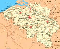 map and belgium road map of belgium belgium road map vidiani maps of all