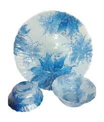 Silver Dinner Set Online Shopping India Vigneto Blue Glass Dinner Sets Glassware Buy Online At Best Price
