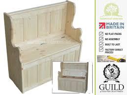hallway storage bench solid pine oak or painted 3ft shoe storage settle hallway bench seat