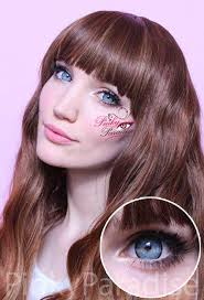 light blue cosplay contacts vassen natural sparkling blue circle lenses pinkyparadise