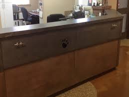 Gray Reception Desk Office Gray Concrete Reception Desk