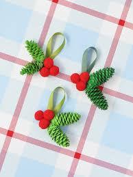 pinecone ornaments three ways