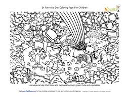 lucky forest coloring page st patricks day theme