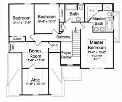 traditional style house plan 4 beds 2 50 baths 1850 sq ft plan
