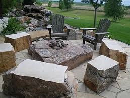 patio exles outdoor firepit with boulders exles of our stone fireplaces
