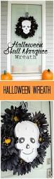 craftaholics anonymous diy halloween skull marquee wreath