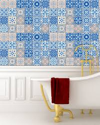 set 24 tile stickers backsplash talavera greece style