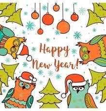 owl christmas tree card royalty free vector image
