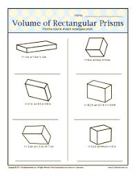 6th grade geometry worksheets volume of rectangular prisms 6th grade geometry worksheets