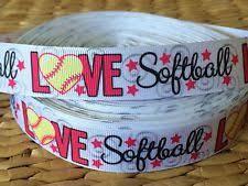 softball ribbon by the yard softball ribbon ebay