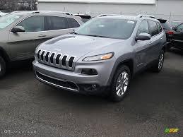 jeep cherokee silver 2017 billet silver metallic jeep cherokee limited 4x4 117773552