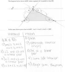 Definition Of Interior Angles Triangle Sum Proof Students Are Asked Prove That The Measures Of