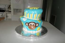 monkey baby shower cake boy monkey topsy turvy baby shower cake the cake process by