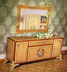 french classic marquetry buffet table european wood carving dining