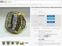 florida gator fan gift ideas florida gators 2008 chionship ring on sale on ebay for 4k hail
