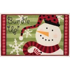 Holiday Doormat Christmas Rugs U0026 Doormats Indoor Christmas Decorations The