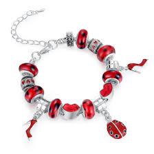 silver charm bead bracelet images Fashion european style sterling silver charm bracelets for girls jpg