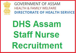 dhs assam staff nurse recruitment 2017 notification apply 500 jobs