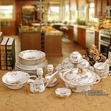 porcelain dinnerware set bone china flower design embossed outline