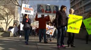 anti trump protesters march in u0027not my president u0027s day u0027 rally in
