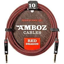 amboz cables red dragon guitar cable sturdy instrument for
