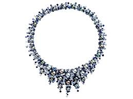 sapphire necklace price images Royal diamond necklace with south sea pearl and blue sapphire jpg