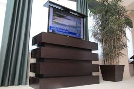 furniture simple brown tc cabinet with flat screen tv for