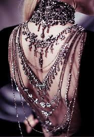 back jewelry necklace images Jewelry fashion dress vintage model dark dresses necklace runway png