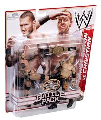amazon com wwe battle pack christian vs randy orton figure 2