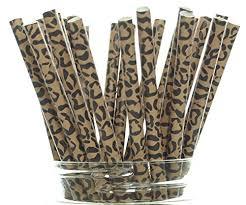 cheetah print party supplies cheetah print straws 25 pack cheetah paw pattern