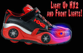 heelys light up shoes heelys spin led light up rollershoes black red silver bewild