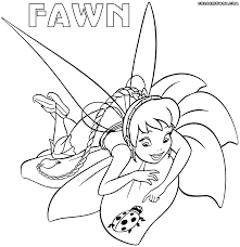 fawn fairy coloring pages coloring pages to download and print