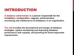 Database Administrator Resume Database Administrator Job Description Office Administrator