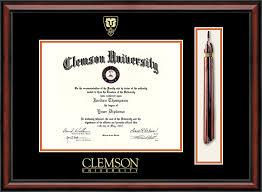 clemson diploma frame clemson shield tassel edition diploma frame in