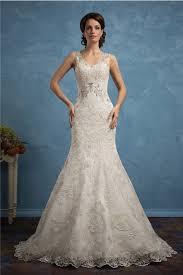 wedding dress open back v neck sleeveless lace beaded wedding dress open back