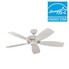 troposair modernaire 52 in pure white ceiling fan and light 88453