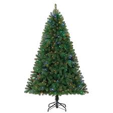 shop living 6 5 ft pre lit seneca pine artificial