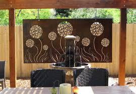 wall art ideas design contemporary outdoor exterior metal wall
