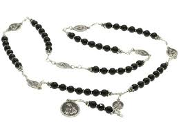 seven sorrows rosary sterling silver 7 sorrows rosary necklace pearls with 7 sorrows