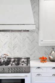 wall tiles for white kitchen cabinets white modern marble chevron backsplash tile backsplash