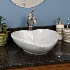 heart shape carrara marble vessel sink vessel sinks bathroom