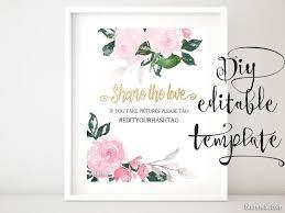 Wedding Signs Template Printable Hashtag Sign Template Diy Wedding Hashtag Sign Pink