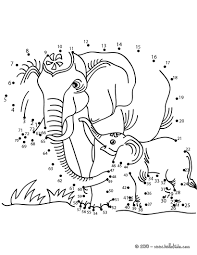 elephants dot to dot game coloring pages hellokids com