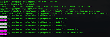 unicode print in terminal with colors using python stack overflow