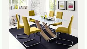 Glass Dining Table And 6 Chairs Sale White Glass Dining Table And 6 Chairs Youtube