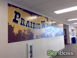 prairie wind elementary nurtures school spirit with wall murals in what is prairie wind elementary wall murals
