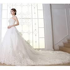 aliexpress com buy plus size wedding dress crystal 100cm long